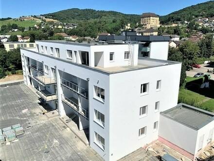 Steyregg: EIGENTUMSWOHNUNG mit ca. 54m² Wohnfläche + X-Large - LOGGIA - IHR NEUBAU-Wohntraum im WOHNPARK Steyregg - Rohbaufertigstellung…