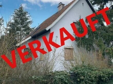 Ansfelden/Haid: Grundstück ca. 579 m2 mit Altbestand (Wohnhhaus mit Nebengebäude BJ 58)
