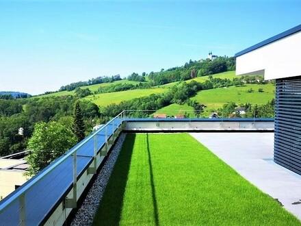 LINZ/URFAHR: PENTHOUSE der Superlative ca. 191m2 Wohnfläche + ca. 19 m2 Balkon + ca. 125 m2 Außenbereiche mit Dachgarten…
