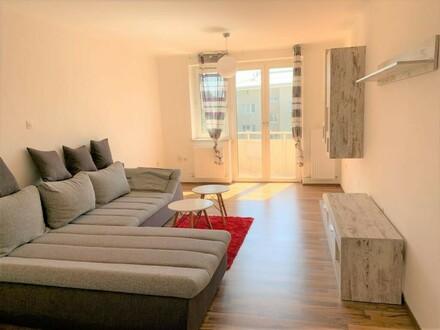 Linz/Stadt: Ca. 56 m² 2-Zimmerwohnung (2er-WG geeignet) + Essküche + BALKON