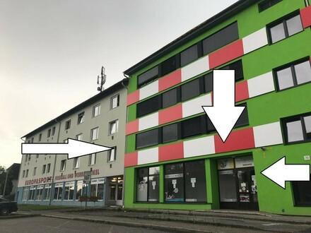 LINZ/NEUE HEIMAT: SEHEN und GESEHEN werden - GESCHÄFTSFLÄCHE ca. 176,82 m² + Lager + Parkplätze