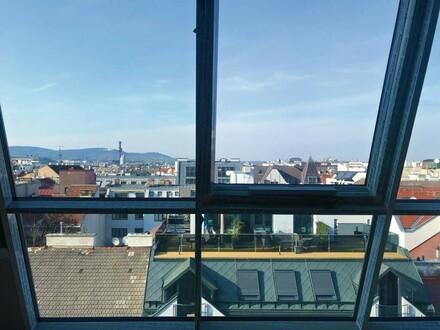 Außergewöhnliche Penthouse-Maisonette mit Terrasse + traumhaftem Ausblick bis zum Leopoldsberg