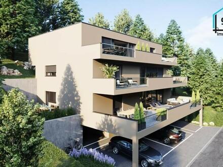 Neubau 2-Zimmer-Wohnung mit kleinem Garten, sonnig, unverbaubar