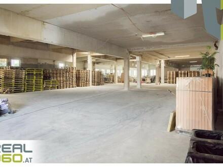 Tolle Lagerhalle in Leonding mit 2 Sektionaltoren und einem elektr. Rolltor mit Rampe zu vermieten!
