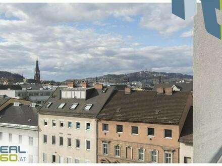 2-Zimmer-Wohnung mit möblierter Küche und Aussicht auf den Pöstlingberg!