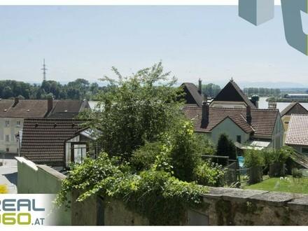 NEUER PREIS!!!!Sonniges Grundstück mit Bestandshaus und Donaublick in TOP-LAGE von Mauthausen!