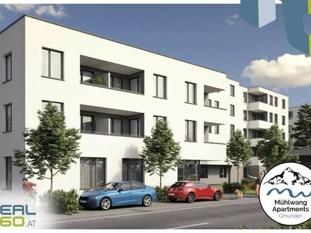 """NEUBAU - """"Mühlwang Apartments"""" GMUNDEN - 2-Zimmer-Wohnung mit Garten und Loggia !!"""