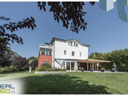 Nur 20 Minuten von Linz entfernt - Edelvilla mit idyllischem Teich und allen Finessen zu verkaufen!