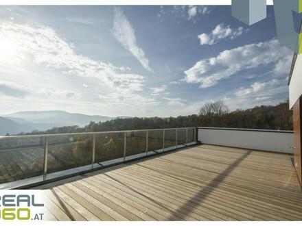 Ausblick von der 50m² Terrasse!