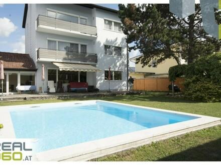 WOHNEN OHNE HEIZKOSTEN! Großzügiges Ein-/ Mehrfamilienhaus mit tollem Garten und Pool in Pasching zu verkaufen!