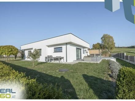 Perfekt geplanter neuwertiger Bungalow mit Pool und toll angelegtem Garten!