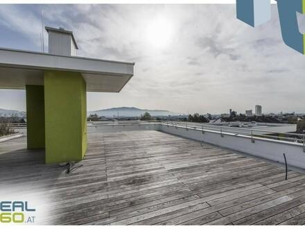 LUXUS PUR in Urfahr! Neubau-Penthouse mit über 100m² Balkon und 230m² Dachterrasse!