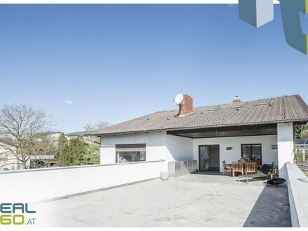 Nahe Wels - Stilvolles Ein-/Zweifamilienhaus in toller und ruhiger Aussichtslage!