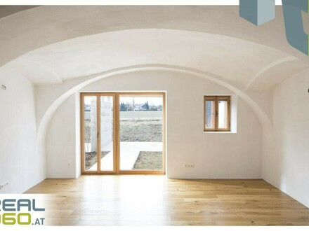 Heller Wohn-Essbereich mit Terrassenzugang