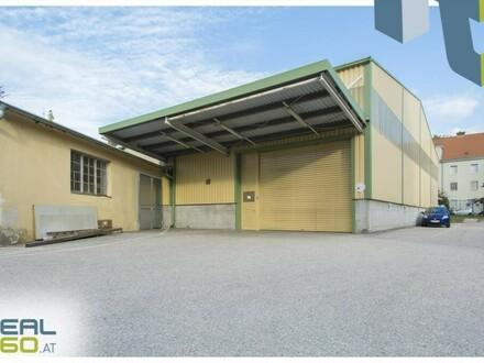 Große ebenerdige Lagerhalle in Linzer Innenstadt zu vermieten!