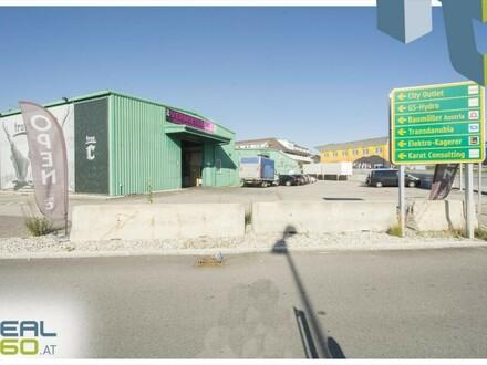 Tolle Lagerhalle mit 2 Rolltoren nahe der Plus City in Pasching zu vermieten!