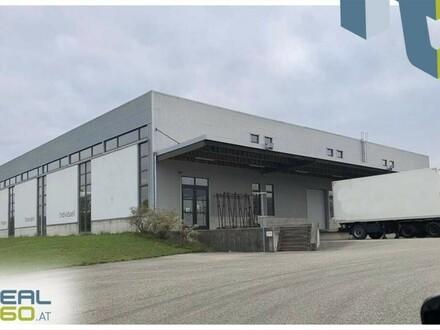Lagerhalle mit 3 Rolltoren und Rangierfläche in Mistelbach bei Wels zu vermieten!!