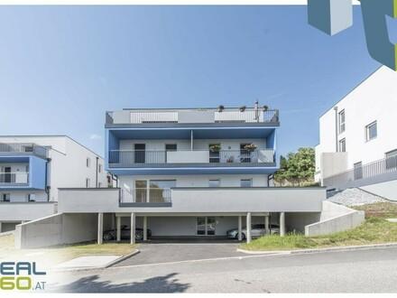 Tolle 4 Zimmer-Neubauwohnung mit Fernblick + 50m² Terrasse!