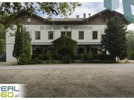 Gasthaus zur Schießstätte (Gasthaus Löwenfeld) mit zahlreichen Parkplätzen und tollem Gastgarten!!