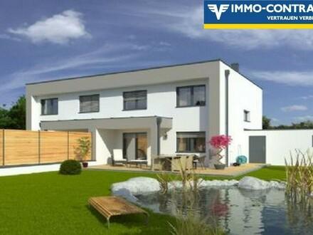 Doppelhaus Flachdach