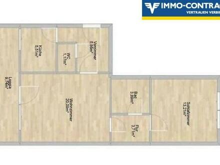 2-Raum-Wohnung mit idealem Grundriss