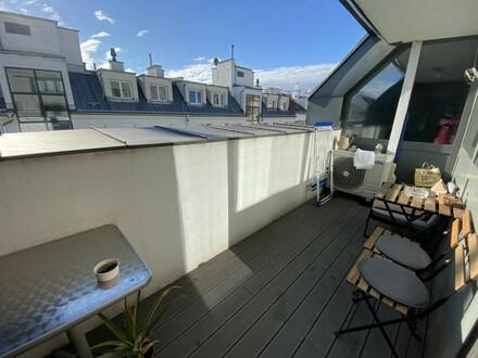 Voll möblilerte 3-Zimmer DG-Wohnung mit Terrasse