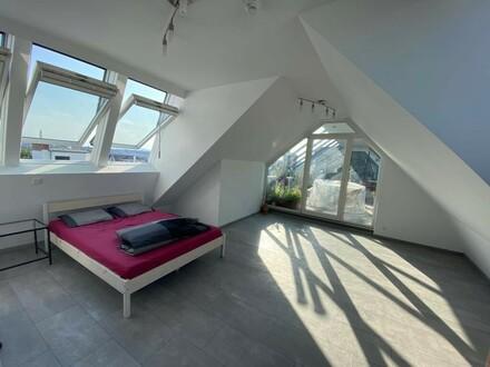 Obere Maisonette-Wohnung mit Dachterrasse zu vermieten