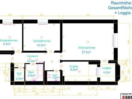 Generalsanierte 3-Zimmerwohnung mit Loggia in der Bahnhofstraße in Schärding! Keine Provision! Verfügbarkeit ehest mögl…