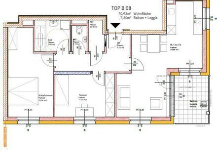 Provisionsfrei direkt vom Bauträger! Neubauprojekt mit Wohnbauförderung jetzt sichern! Moderne 70 m² Wohnung mit Balkon in…