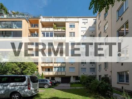 """Südseitiger Balkon mit Blick ins Grüne, Top-Lage nahe Theresianum, frisch saniert"""