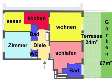01. Plan Gartenwohnung Anlageobjekt - 1170 Wien