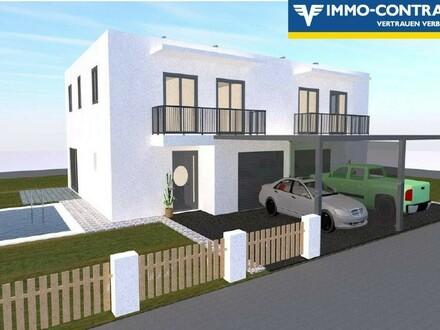 Luxus-Doppelhaus mit Pool und Garage