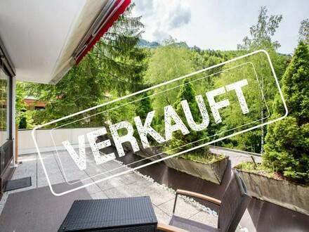 Familienwohnung mit 27 m² Sonnenterrasse in sehr ruhiger Lage!