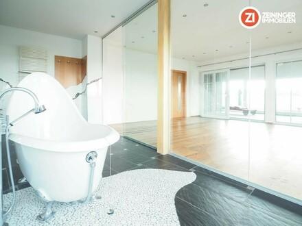 PENTHOUSE mit Sauna, Solarium und freistehender Badewanne - 79 m² Dachterrasse