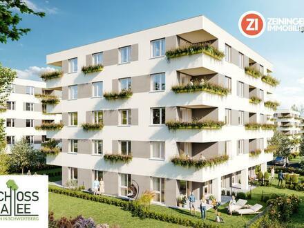Schloss Allee - Leben in Schwertberg - Neue geförderte 4-Zimmer Wohnung mit Garten