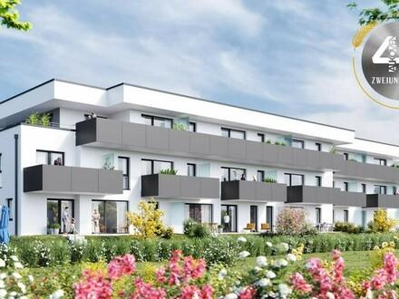 """Neubauprojekt """"Vierzig72"""" - Hochwertige 3 ZI-Wohnung mit Terrasse im Zentrum von Alkoven"""