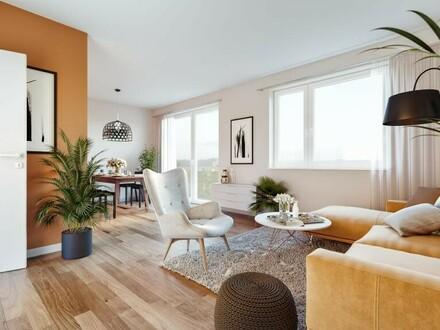 Erstbezug I Provisionsfreie 3 ZI - Wohnung inkl. Loggia und TG!