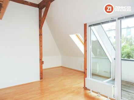 PREISWERTE und SCHÖNE Dachgeschoss Wohnung 3 ZI-Wohnung im Herzen von Urfahr