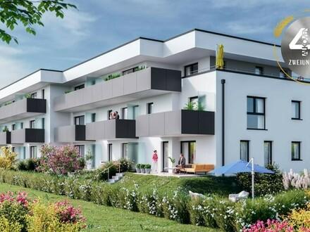 """Neubauprojekt """"Vierzig72"""" - Stilvolle Penthousewohnung mit Terrasse im Zentrum von Alkoven"""