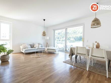 !ERSTBEZUG! Exklusive 3-Zimmer-Gartenwohnung über den Dächern von Linz