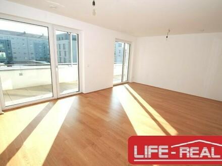 Neubauwohnung mit zwei Zimmer und Terrasse in Linz-Süd