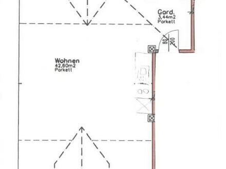 Garçonnière mit ca. 54 m²