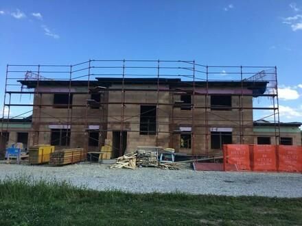Frontansicht - Baufortschritt Juli 2017