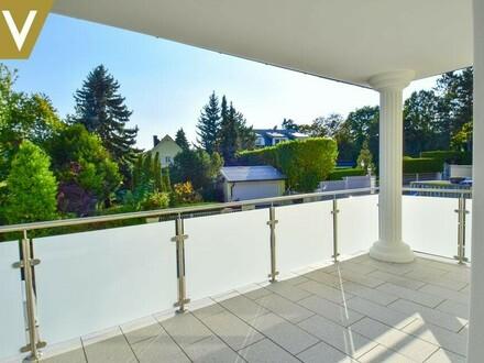 Balkon-Wohnzimmer-Perspektive