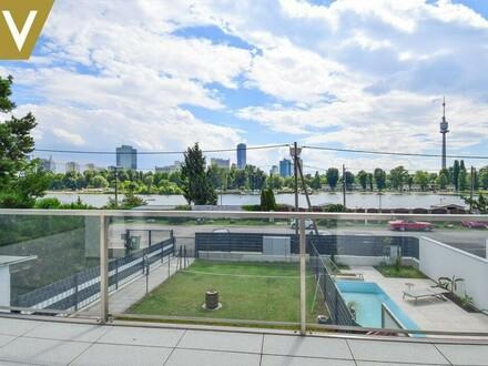 Mit Blick auf die obere Alte Donau - PROVISIONSFREI - Großzügige Maisonette / Overlooking the upper old Danube - Commission…