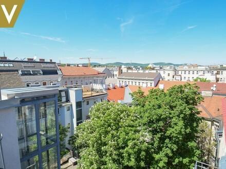 Zentral, hell, mit zwei Terrassen und Blick auf Kahlenberg // Central, bright, with two terraces overlooking Kahlenberg