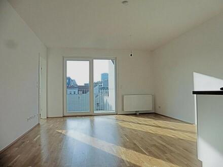 Ruhige, moderne 2-Zimmer-Neubauwohnung mit großem Balkon
