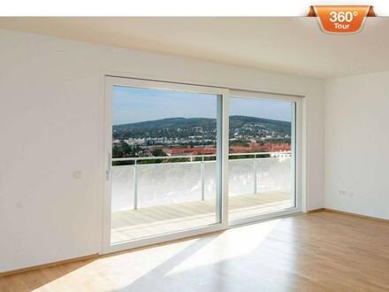 Top moderne 3 Zimmer Wohnung mit Balkon und wunderschönem Ausblick! Erstbezug!