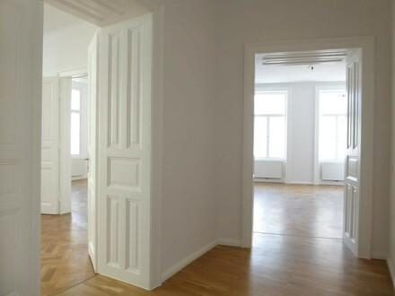 FLAIR DER JAHRHUNDERTWENDE 4 Zimmer plus Balkon und Einbauküche, UNBEFRISTET