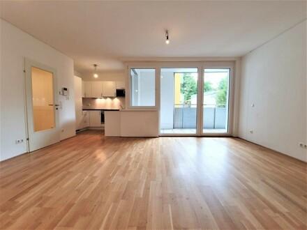 Super-schicke 4-Zimmer Neubauwohnung mit 11m² Loggia! Hofseitig und ruhig!